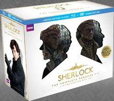 """Sherlock"" Sherlock Limited Edition Gift Set (The Complete Seasons 1-3 Blu-ray/DVD Combo) at BBC Shop"