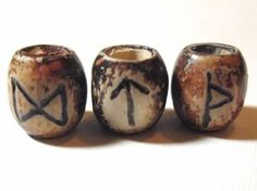 Getting these for when I get a dread RUNE DREAD BEAD - Carved Wood - Choose Your Rune