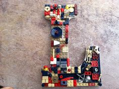Custom decorative wall letter  L toy bricks by MosaicTreasureBox, $50.00