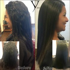 Before after with yuko hair straightening leaving hair hair japanesestraightening yukosalon curlyhair straighthair yukohairstraightening solutioingenieria Images