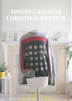 DIY Advent Calendar Ugly Christmas Sweater Party Tutorial
