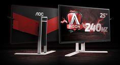 Agon AG251FZ - 240 Hz pour le prochain moniteur Gaming d'AOC - Conçu pour répondre aux exigences les plus poussées des joueurs, l'AG251FZ associe à sa diagonale de 25 pouces une kyrielle de fonctionnalités pensées pour le gaming : un mode Low Input Lag pour ...