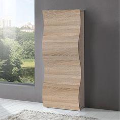 Scarpiera 4 ante 71x28xh162 cm in legno Rovere Segato ONDA 24 paia in Kit di Montaggio | Tecnos Arredamento | Stilcasa.Net: scarpiere e portascarpe