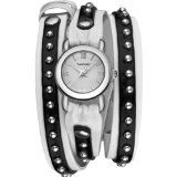 Vernier Ladies Fashion Two Tone PU Leather Triple Wrap Watch $34.00