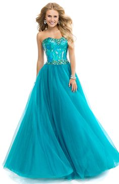 Flirt Prom 2014 Dress Style P4862 Ball Gown Dress with Stacked Jeweled Bodice & Tulle skirt   FLIRT Collection Available Colors: Blush, Electric Teal, Cerise, Frosty Aqua