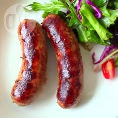 Italian sausages are spicy and delicious and can be eaten on their own or used in pasta bakes or even pizza topping. Watch how in the Allrecipes Italian Sausage Video . Homemade Italian Sausage, Homemade Sausage Recipes, Italian Sausage Recipes, Pork Recipes, Cooking Recipes, Italian Sausages, Charcuterie, Sausage Rolls, Allrecipes