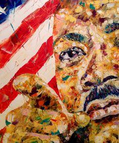 Martin Luther King Painting Portrait FREE by VladimirNezdiymynoga