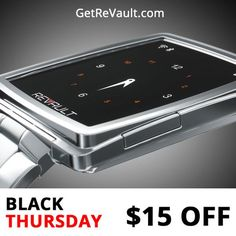 Get $15 off on ReVault - the first smartwatch with wearable data storage.
