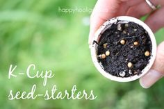 Great ways to re-use your K-cups! k-cup seed starters, games for toddlers, card holders & more!