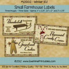 Printable Farmhouse Labels - Winter 102