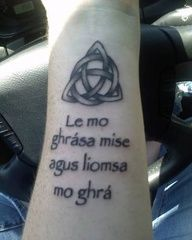Gaelic I am my beloveds and my beloved is mine I love the Celtic knot Bild Tattoos, Love Tattoos, New Tattoos, Tatoos, Celtic Symbols, Celtic Knot, Irish Claddagh Tattoo, Gaelic Words, Irish Tattoos