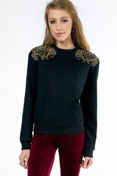 Urban Sophia Embellished Sweater $66 at www.tobi.com