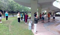 Qiqong session - morning of 14 Dec 2014 @ Kempas