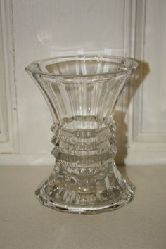"Crystal Studio Nova flare vase measures approx: 5"" x 4""D MINT with sticker $15.50"