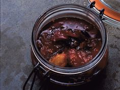 Sweet-hot plum chutney. Perfect for all the cheese I'm planning to eat this fall and winter!