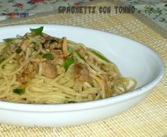 Spaghetti tonno e cipolla