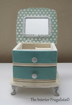 Thrift Store Jewelry Box Makeover