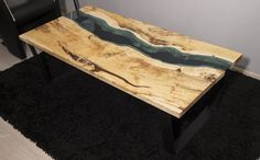 SOLD Live edge river coffee table SOLD by KameleonCraft on Etsy
