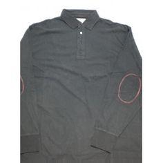 Polo de manga larga en color gris para hombre en tallas grandes