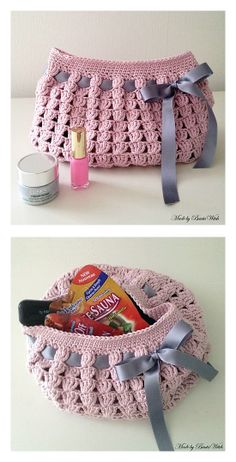Crochet Toiletry Bag Pattern : 1000+ images about crochet travel bags on Pinterest ...
