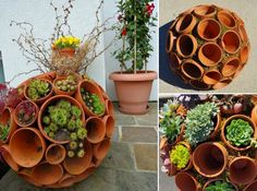 You will love these fabulous Clay Pot Planter Ideas and we have included a Clay Pot Wreath and also a Clay Pot Succulent Sphere.