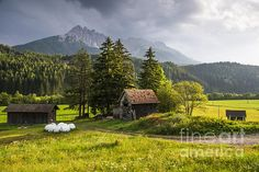 Austrian old huts and farms