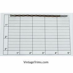 "Diamond Checkered Flat Braid 3/16"" (576 Yard Roll) Tan/Black"