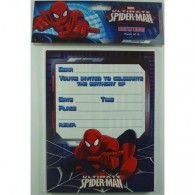The Ultimate Spiderman Birthday Party Invitations - Pack of 8 for sale online Spiderman Invitation, Boy Birthday, Birthday Parties, Wholesale Party Supplies, Printed Balloons, Birthday Party Invitations, Invites, Superhero Party, Party Time
