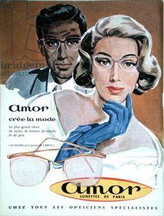 Vintage eyewear ad from Elle Magazine 1957