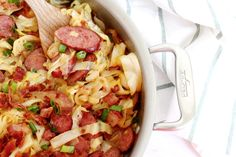 Braised Cabbage with Kielbasa and Bacon - Keto, Paleo, Whole 30 - The Bettered Blondie