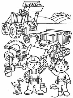 bob the builder preparing to start work coloring pages for kids printable bob the builder coloring pages for kids
