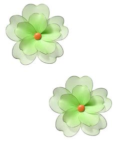 Look at this Green Multilayer Hanging Flower - Set of Two on #zulily today!
