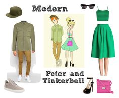 """""""Modern Peter Pan and Tinkerbell"""" by we-are-walt-disney ❤ liked on Polyvore featuring WearAll, Selima Optique, Rosetti, ASOS, Prada, Topman, Filling Pieces, modern, disney and peterpan"""