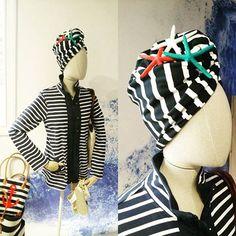 Batela Marine Stripes & Starfish Summer Decoration, Starfish, Winter Hats, Stripes, Shopping, Fashion, Moda, La Mode, Fasion