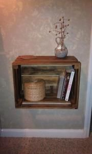 Our crate nightstands
