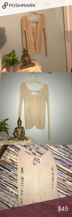 Free People • Lace Up Back * Super cute casual Knit FP Tie back top* * Like New, No sighs of wear  * Size small can fit XS Free People Tops Blouses