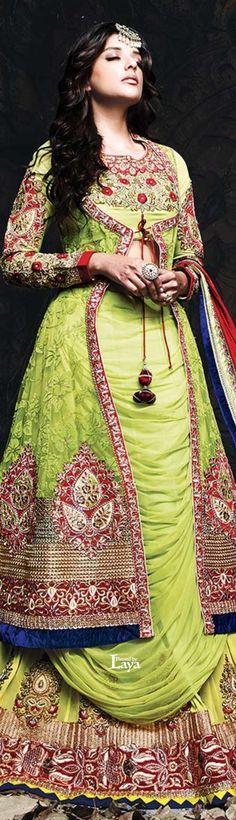 .❋*✿.BRIDAL Lehenga.✿*❋. Asian Fashion #asian #fashion #female #women #ladies #girls #feminine #saree #desi #anarkali #lehenga #blouse #caftan #silk #kimono #sari #bollywood #jewelry #henna #jade #outfit #designer #couture #indian #pak #georgette #celebrity #bride #wedding #cheongsam #bridal #collection