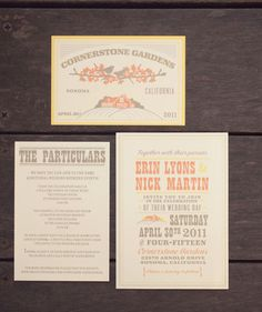 Wedding paper, invitation, save the date, thank you & table cards