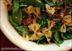 Spinach Chicken and pasta oriental salad