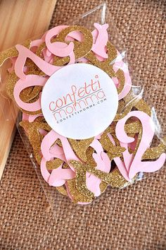 Pink and Gold Birthday Party Decorations by courtneyorillion