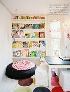 Book wall for kids playroom. Reading Nook Kids, Reading Room, Reading Games, Happy Reading, Bookshelves Kids, Book Shelves, Book Storage, Bookshelf Wall, Bookshelf Ideas