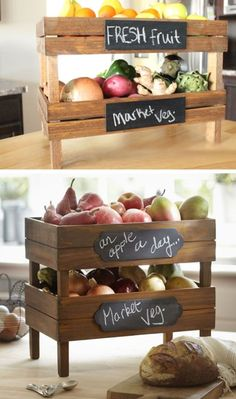 Stackable Fruit and Vegetable Crates   DIY Pottery Barn Decor Knock Offs   DIY Pottery Barn Living Room Ideas on a Budget