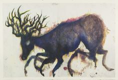 Christine Sefolosha    Véloce  , 2015 Ink, mixed media, chine collé on Arches paper 40 x 58 inches 101.6 x 147.3 cm CSe 108