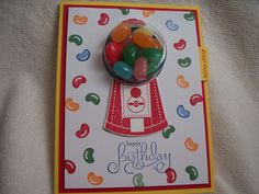 Gumball Machine Pull Card.  Something Sweet