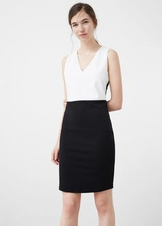 Monochrome pencil dress