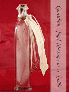 """This Guardian Angel Message in a Bottle is such a sweet DIY Valentine's Day gift! The message reads """"I give you a bit of myself so you'll know I'm close when you need me. Your guardian angel."""""""