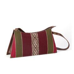#Handtasche aus #Bolivien, gewebte Wolle und Leder, traditionelles Muster der Anden, Aguayo-Stoff, Innenfach mit Reißverschluss,Handtasche aus Bolivien online bestellen