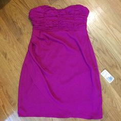 NWT F21 dress I bought this dress just because I loved it but no place to wear it! Sweetheart neckline with a ruched bust. Has a chiffon feel to it. Completely brand new. Size S. Forever 21 Dresses Strapless