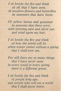 Bilbo's poem at the end of The Hobbit