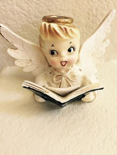 Vintage Christmas HOLT Howard Mischeivous Angel Candle Holder 1958 Original Tags